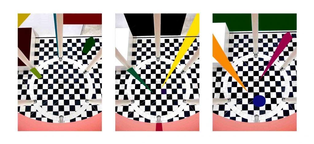 Géométrie variable œuvre triptyque de Jenny ecoiffier